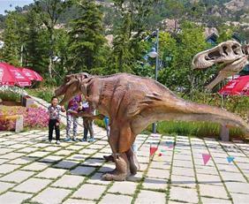 到世园会体验侏罗纪时代